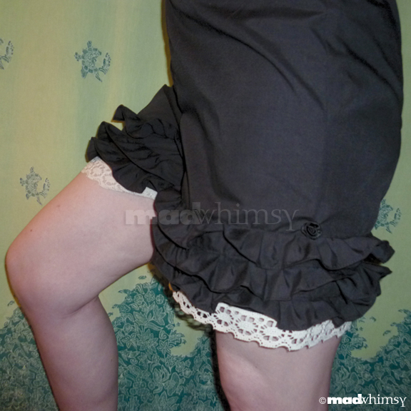 me wearing the bloomers