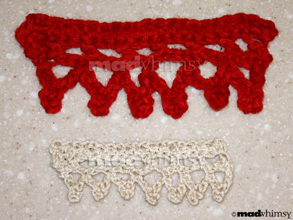 2 crocheted borders