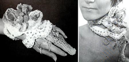 hand & neckpiece by Nancy Lipe